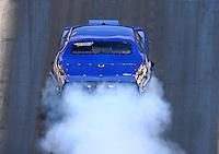 Jun 18, 2016; Bristol, TN, USA; NHRA pro mod driver Jim Bell during qualifying for the Thunder Valley Nationals at Bristol Dragway. Mandatory Credit: Mark J. Rebilas-USA TODAY Sports