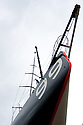 8th May  2010. Portsmouth . UK..Pictures of Alex Thomson's  new Hugo Boss IMOCA Open 60 race yacht. Shown here having it's mast stepped prior to launching and sea trials.Mandatory credit: Peter Ridout/Lloyd Images