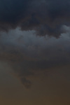 Dark storm clouds over the James River