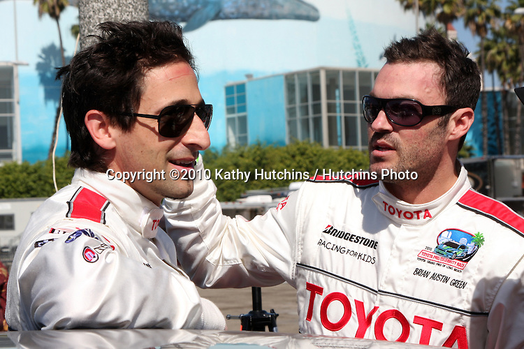 Adrien Brody & Brian Austin Green.attending Toyota Celebrity Race Press Day - Toyota Long Beach Grand Prix.Hollywood Blvd.Long Beach, CA.April 6, 2010.©2010 Kathy Hutchins / Hutchins Photo...