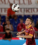 Calcio, Serie A: Roma vs Sampdoria. Roma, stadio Olimpico, 26 settembre 2012..AS Roma midfielder Alessandro Florenzi prepares to kick the ball during the Italian Serie A football match between AS Roma and Sampdoria at Rome's Olympic stadium, 26 September 2012..UPDATE IMAGES PRESS/Riccardo De Luca
