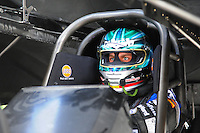 Jan. 17, 2012; Jupiter, FL, USA: NHRA funny car driver Matt Hagan during testing at the PRO Winter Warmup at Palm Beach International Raceway. Mandatory Credit: Mark J. Rebilas-