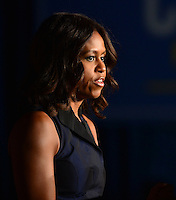 OCT 17 First Lady Michelle Obama Campaigns For Charlie Crist In Miami
