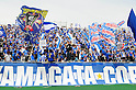 Montedio Yamagata fans,MAY 3, 2011 - Football :2011 J.League Division 1 match between Montedio Yamagata 2-1 Kashiwa Reysol at NDsoft Stadium Yamagata in Yamagata, Japan. (Photo by AFLO)