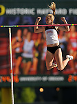 11 JUNE 2010: Tina Sutej of Arkansas clears the bar in the Womens pole vault during the Division I Men's and Women's Track and Field Championship held at Hayward Field on the University of Oregon campus in Eugene, OR.  Steve Dykes/NCAA Photos