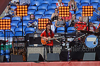 Merthyr Tydfil's Welsh singer/songwriter Kizzy Crawford performs during the homecoming celebrations at the Cardiff City stadium on Friday 8th July 2016 for the Euro 2016 Wales International football squad.<br /> <br /> <br /> Jeff Thomas Photography -  www.jaypics.photoshelter.com - <br /> e-mail swansea1001@hotmail.co.uk -<br /> Mob: 07837 386244 -