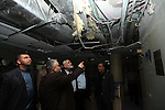 Palestinian Prime Minister in Gaza strip Ismail Haniyeh inspects the damage in the Jordanian Hospital in Gaza city, November 30, 2012. Israeli aircraft targeted the Jordanian hospital during an eight-day cross-border violence ended in an Egyptian-brokered truce agreement that called on Israel to ease restrictions on the territory.. Photo by Mohamed Ostaz