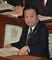 January 24, 2012, Tokyo, Japan - Japans Prime Minister Yoshihiko Noda is ready to deliver his policy speech as the ordinary session of the Diet convenes in Tokyo on Tuesday, January 24, 2012...Noda is expected to face a negotiation with the opposition camps on the passage of bills to raise the nations sales tax from the current five percent to eight percent in April 2014 and 10 percent in October 2015. The opposition bloc is taking a confrontational approach and stepping up efforts to dissolve the lower house for an election. (Photo by Natsuki Sakai/AFLO) AYF -mis-.