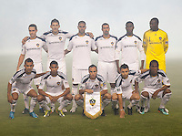 CARSON, CA – SEPTEMBER 10: LA Galaxy starting lineup at Home Depot Center, September 10, 2010 in Carson California.
