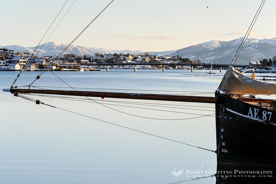 Norway, Stavanger. Veteran Sail Yacht Nortun, formerly Brandenburg.
