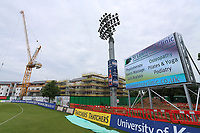General view of construction work at the ground ahead of Kent Spitfires vs Essex Eagles, Royal London One-Day Cup Cricket at the St Lawrence Ground on 17th May 2017