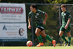 20 September 2015: Stetson's Sebastian Contreras. The Campbell University Camels hosted the Stetson University Hatters at Eakes Athletics Complex in Buies Creek, NC in a 2015 NCAA Division I Men's Soccer game. Campbell won the game 1-0.
