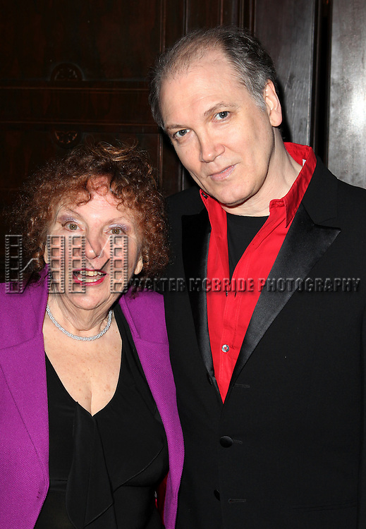 Artistic Director Crystal Field & Charles Busch attending 'Love 'n' Courage' the 10th Annual Benefit for the Theater for the New City Emerging Playwrights Program Celebrating Charles Busch at the National Arts Club in New York City on 2/25/2013