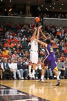Jan. 2, 2011; Charlottesville, VA, USA;  during the game at the John Paul Jones Arena. Virginia won 64-50. Mandatory Credit: Andrew Shurtleff-