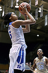 29 January 2017: Duke's Leaonna Odom. The Duke University Blue Devils hosted the Old Dominion University Monarchs at Cameron Indoor Stadium in Durham, North Carolina in a 2016-17 Division I Women's Basketball game. Duke won the game 71-43.