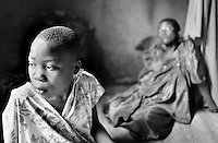 After losing her parents to AIDS, a girl has to live with her grandmother in Kampala, Uganda on April 18, 2001. More than 13 million African children who have been orphaned by the the AIDS pandemic. Worldwide, more than 20 million people have died since the first cases of AIDS were identified in 1981.