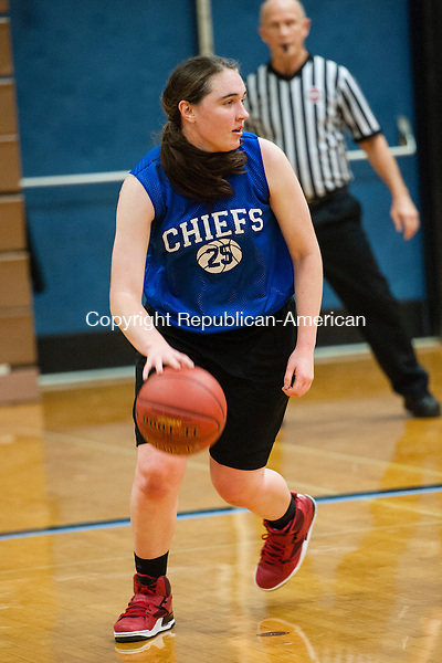 WOODBURY, CT-2 December 2014-120214EC06-  Nonnewaug senior Jess Fengler during a scrimmage with Watertown in Woodbury Tuesday. Erin Covey Republican-American