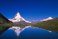 The Matterhorn (Riffelsee in foreground), near Zermatt, Switzerland
