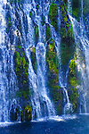 Close up view of McArthur-Burney Falls, McArthur-Burney Falls Memorial State Park, Northern California.
