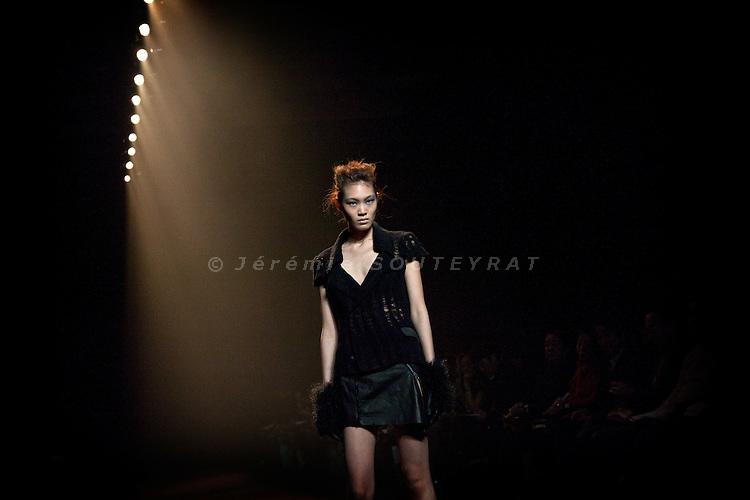 Tokyo, March 24, 2010 - Fashion week in Tokyo. Aguri Sagimori show for AW 2010-2011 collection.