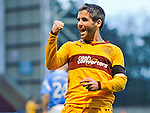 Motherwell v St Johnstone...28.01.12  .Keith Lasley celebrates his goal.Picture by Graeme Hart..Copyright Perthshire Picture Agency.Tel: 01738 623350  Mobile: 07990 594431