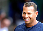 16 March 2007: New York Yankees third baseman Alex Rodriguez converses in the dugout during a game against the Houston Astros at Osceola County Stadium in Kissimmee, Florida...Mandatory Photo Credit: Ed Wolfstein Photo