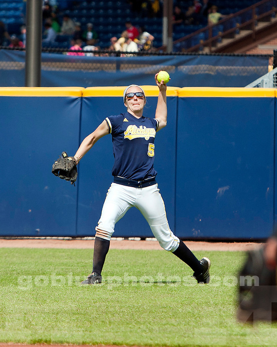 The No. 2-ranked University of Michigan softball team defeats the University of Minnesota, 8-1, at Alumni Field on Saturday, May 8, 2011.