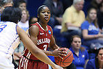 22 March 2014: Oklahoma's Aaryn Ellenberg. The DePaul University Blue Demon played the University of Oklahoma Sooners in an NCAA Division I Women's Basketball Tournament First Round game at Cameron Indoor Stadium in Durham, North Carolina. DePaul won the game 104-100.