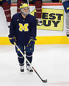 Chad Langlais (Michigan 7) takes part in the Wolverines' morning skate at the Xcel Energy Center in St. Paul, Minnesota, on Friday, October 12, 2007, during the Ice Breaker Invitational.