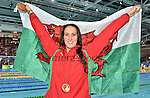 Wales Georgia Davies celebrates winning Gold in the womans 50m Backstroke<br /> <br /> Photographer Ian Cook/Sportingwales<br /> <br /> 20th Commonwealth Games -Swimming -  Day 6 - Tuesday 29th July 2014 - Glasgow - UK