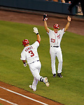 21 June 2011: Washington Nationals catcher Wilson Ramos hits a walk-off 3-run homer in the bottom of the 9th inning to win the game against the Seattle Mariners at Nationals Park in Washington, District of Columbia. The Nationals rallied from a 5-1 deficit, scoring 5 runs in the bottom of the 9th, to defeat the Mariners 6-5 in inter-league play. Mandatory Credit: Ed Wolfstein Photo
