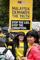 "29.08.2015 - ""Bersih 4 UK Solidarity Rally"" - Malaysian Demo outside Downing Street"