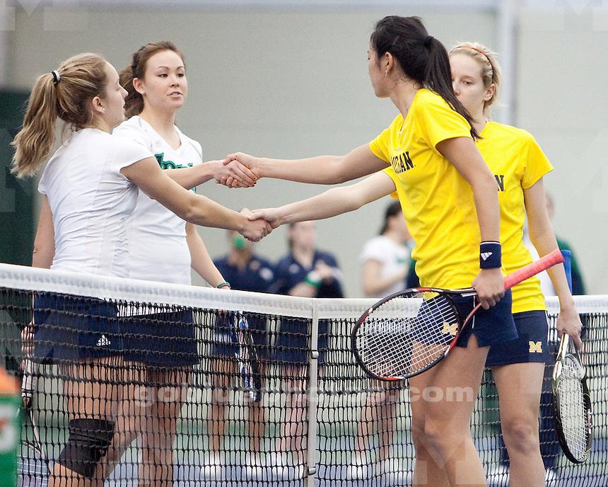 2/7/2010 Michigan vs. Notre Dame women's tennis.