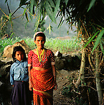 A mother and daughter in a remote part of western Nepal controlled by Maoist rebels. (Photo/Scott Dalton)