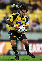 Hurricanes second five Ma'a Nonu during the Super 14 rugby match between the Hurricanes and Lions at Westpac Stadium, Wellington, New Zealand on Saturday, 27 February 2010. Photo: Dave Lintott / lintottphoto.co.nz
