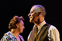 "Dundee, UK. 21.02.2017. Dundee Rep presents ""Death of a Salesman"", by Arthur Miller, directed by Joe Douglas. Picture shows: Irene MacDougall (Linda), Billy Mack (Willy Loman). Photograph © Jane Hobson."