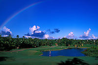 Guam International hole number 2 seen with a rainbow