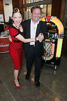 8/12/2010. Imelda May. Dublin Native and international music sensation Imelda May is pictured with Stephen Beynon, Director of Consumer and Small Business, eircom at the launch of MusicHub from eircom. Picture James Horan/Collins
