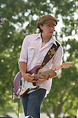 Eric Tessmer plays the blues at Bamfest  in Belleville Wisconsin on July 14, 2007 just south of Madison