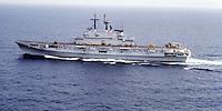 "The Italian aircraft carrier  ""G. Garibaldi""  in navigation"