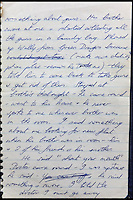 BNPS.co.uk (01202 558833)<br /> Pic: Gorringes/BNPS<br /> <br /> ****must use full byline****<br /> <br /> A diary kept by the tragic wife of Reggie Kray describing her hellish life with the gangster including having to share a bed with a gun and a flick-knife has emerged.<br /> <br /> Long-suffering Frances Kray wrote of the constant abuse and drunken temper bouts she endured at the hands of the East End villain.<br /> <br /> Describing how Reggie kept a cache of deadly weapons in their bedroom, she said: &quot;(He) came back night time. By the side of bed gun, sword, knife, chopper, flick-knife.<br /> <br /> &quot;He used to sleep with flick-knife under his pillow.&quot;<br /> <br /> The diary along with letters and photographs are being auctioned tomorrow (Weds) at Gorringes, East Sussex.