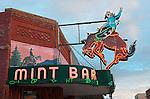 Historic Western Cowboy bar, The Mint Bar, Main Street, Sheridan, Wyoming