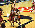 Ole Miss' Courtney Marbra (25) vs. Alabama's Alicia Mitcham (32) in NCAA women's basketball action in Oxford, Miss. on Sunday, January 13, 2013.  Alabama won 83-75.