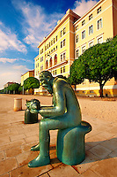 "Neo classic Austrian seafront with ""The Old Man Of The Sea Statue"", Zadar, Croatia"