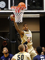 WEST LAFAYETTE, IN - DECEMBER 01: Jacob Lawson #34 of the Purdue Boilermakers watches the ball go in the hoop against the Xavier Musketeers at Mackey Arena on December 1, 2012 in West Lafayette, Indiana. Xavier defeated Purdue 63-57. (Photo by Michael Hickey/Getty Images) *** Local Caption *** Jacob Lawson