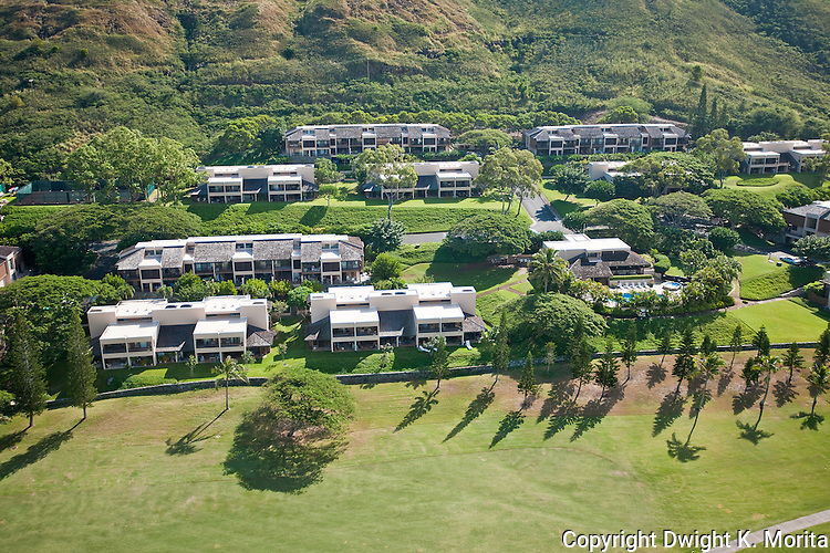 Bluestone Condominiums - Condos are nestled into the hillside providing views of the golf course at Mid-Pacific Country Club.