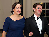 Brooke Anderson, Deputy Assistant to the President and Chief of Staff, National Security Council, and James Salter, arrive for the Official Dinner in honor of Prime Minister David Cameron of Great Britain and his wife, Samantha, at the White House in Washington, D.C. on Tuesday, March 14, 2012..Credit: Ron Sachs / CNP.(RESTRICTION: NO New York or New Jersey Newspapers or newspapers within a 75 mile radius of New York City)
