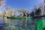 Canoes In Back Pool, Three Sisters Spring