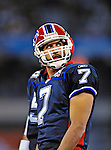 7 December 2008: Buffalo Bills' quarterback J.P. Losman glances up to the scoreboard during a game against the Miami Dolphins in the first regular season NFL game ever played in Canada. The Dolphins defeated the Bills 16-3 at the Rogers Centre in Toronto, Ontario. ..Mandatory Photo Credit: Ed Wolfstein Photo