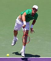 Tomas BERDYCH (CZE) against Andy RODDICK (USA) in the final of the men's finals. Andy Roddick beat Tomas Berdych 7-5 6-4..International Tennis - 2010 ATP World Tour - Sony Ericsson Open - Crandon Park Tennis Center - Key Biscayne - Miami - Florida - USA - Sun 4 Apr 2010..© Frey - Amn Images, Level 1, Barry House, 20-22 Worple Road, London, SW19 4DH, UK .Tel - +44 20 8947 0100.Fax -+44 20 8947 0117